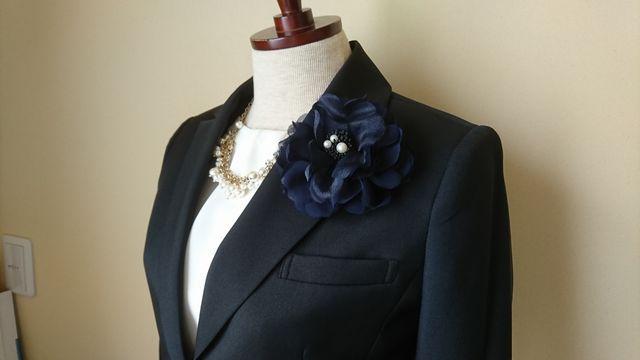 礼服真珠コサージュ