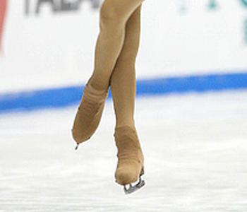 フィギュアスケートジャンプの足